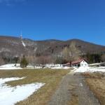 Pogled na Boč in planinski dom