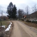 Križišče v vasi Planina